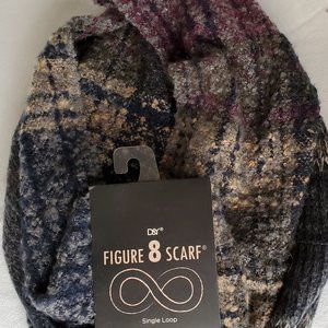 D & Y Infinity Scarf Soft Blue Taupe Purple New